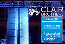 Clair Brothers to Exhibit at ISE 2018-Amsterdam