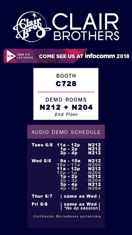 clair brothers infocomm 2018 wht box updated